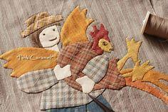 Patchwork * Pink Caramel *: El de la esposa del granjero Sampler Edredón 26