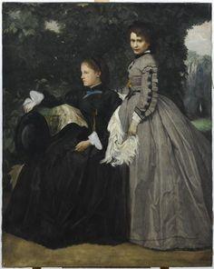 Femmes dans un jardin Legros Alphonse (1837-1911)