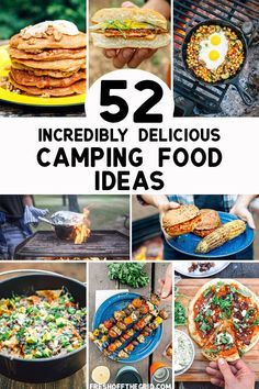 Camping meals don't need to be complicated OR boring! With these easy camping food ideas, you'll be able to plan your next camping menu in a snap! Lots of vegetarian, vegan, and gluten free options, too. #camping #campingtips