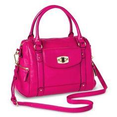 Women's Crossbody Satchel Handbag - Hot Pink