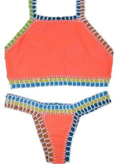 Browse all products in the Swimwear category from Mar Brazil Designs. Brazilian Swimwear, Summer 2016, Salmon, Crochet, Bikinis, Collection, Design, Bikini