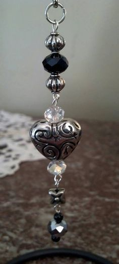 Heart Key Chain key chain silver key chain by AtYourWittsEnd, $6.00