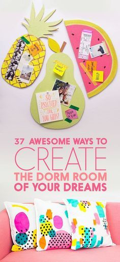 How to have the cutest room on the floor. College dorm room decor tips