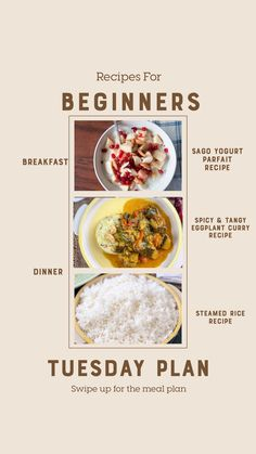 Weekly Recipes For Beginners - Foxtail Millet Upma, Paneer Bhurji Pav And Much Spicy Recipes, Curry Recipes, Steam Rice Recipe, Eggplant Curry, Banana Sandwich, Yogurt Breakfast, Yogurt Parfait, Vegetable Curry, Steamed Rice