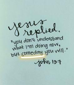 Y poco a poco voy entendiendo. Nos va dando ojos para ver. Las vendas se van cayendo y la voluntad de Dios se va revelando en nuestras vidas a medida que su palabra renueva nuestra mente. Su Espiritu nos va guiando en toda verdad de que Jesucristo es Dios.