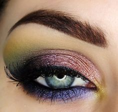 'Pigments' Idea Gallery look by Make-upByMaya using Makeup Geek eyeshadows Chickadee, Corrupt, Shimmermint, Immortal gel liner, Bewitched, Birthday Wish, Enchanted and Liquid Gold pigments!
