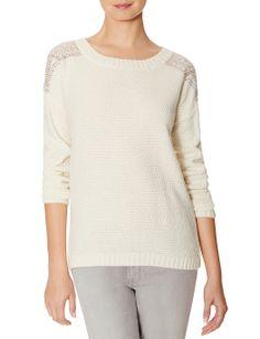 Sparkle Shoulder Sweater | Gem Sweater | THE LIMITED
