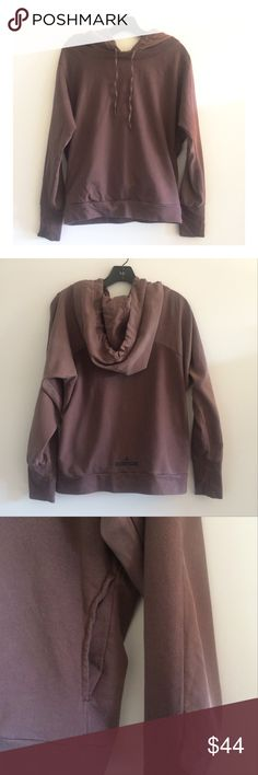 Stella McCartney x Adidas Hooded Pullover Features 2 different fabrics (mostly French terry cloth) and a serious hood. The pockets are also hidden but connect. Good condition. SZ small. Tops Sweatshirts & Hoodies