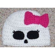 Boutique Custom Crochet Disney Monster High Beanie Hat - idea only, no pattern