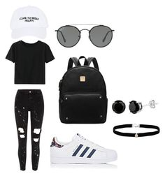 """""""Untitled #1"""" by jasminerudicel ❤ liked on Polyvore featuring Nasaseasons, WithChic, adidas, Ray-Ban, Amanda Rose Collection and River Island"""