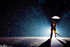 Engagement Photo in the rain