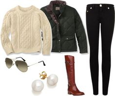 """Comfy Winter Outfit"" by elizabethandre ❤ liked on Polyvore"