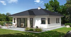 Bungalow Style House, Bungalow House Plans, Modern Bungalow, Dream House Plans, House Architecture Styles, Roof Architecture, House Layout Plans, House Layouts, Country Backyards