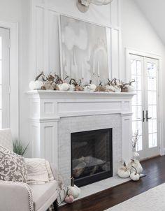 Home Decor – Decor Ideas – decor White Mantle Fireplace, Fireplace Redo, Fireplace Built Ins, Bedroom Fireplace, Fireplace Remodel, Living Room With Fireplace, Fireplace Surrounds, Fireplace Design, Living Room Decor