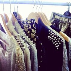I am obsessed with studded items. I have many sweaters with studs on the shoulders. Studs give a more edgyer look to  shoes, nails, dresses, and sweaters. I would definitely wear studded items to the office.