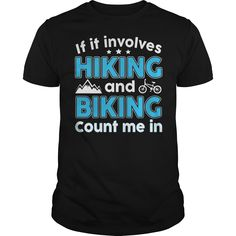 Hiking and Biking t-shirts