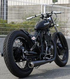 SR400 Bobber by Custom Bike Light from Japan via Garage Project