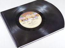 Gästebuch KISS Schallplatte upcycling Vinyl