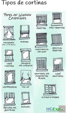 M s de 1000 ideas sobre tipos de cortinas en pinterest - Tipos de cortinas para salon ...