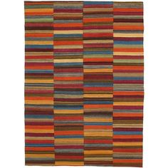 """I pinned this Taleeb Kilim Modern 9'3"""" x 6'9"""" Rug from the Loominary event at Joss and Main!"""