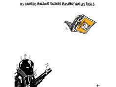 Dessin que l'auteur de bande dessinée français Boulet a partagé sur Twitter. Publié le 07-01-2015 - Mis à jour le 08-01-2015 à 13h20 par L'Obs avec AFP
