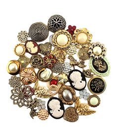Look what I found on #zulily! Victorian Button - Set of 100 by Buttons Galore & More #zulilyfinds