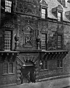 Glasgow University Gate in situe High Street before move to Gilmorehill.