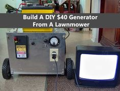 $40 Generator From A Lawnmower. This whole project will only set you back about $40 in parts and if you don't have a mower to make one check out Craigslist