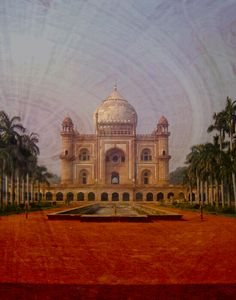 with radial gradient, pattern and butterflies Class Projects, Photoshop Tutorial, Taj Mahal, Public, Building, Places, Pictures, Travel, Butterflies