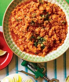Red Rice for Cinco de Mayo Side Dish Recipes, Rice Recipes, Mexican Food Recipes, Great Recipes, Cooking Recipes, Favorite Recipes, Ethnic Recipes, Party Recipes, Mexican Meals