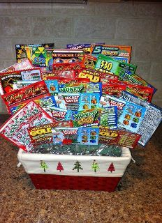 lotto basket...lotto fun! so doing this for the school's carnival basket!
