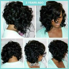 wanna give your hair a new look? Weave bob hairstyles is a good choice for you. Here you will find some super sexy Weave bob hairstyles, Find the best one for you, Curly Bob Hairstyles, Weave Hairstyles, Curly Hair Styles, Natural Hair Styles, Black Hairstyles, Hairstyles 2018, Bob Haircuts, Trendy Hairstyles, Amazing Hairstyles
