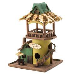 "Zingz & Thingz 13.5"" Wood Hula Hut Birdhouse - Beyond the Rack $17.99"