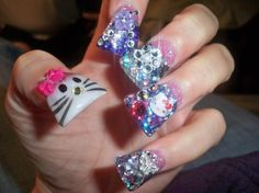 Blingged out nails