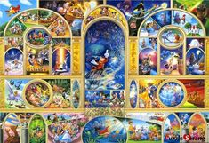 """Jigsaw Puzzles 1000 Pieces """"Disney Character Collection II"""" / Disney / Tenyo Disney Collage, Disney Art, Disney Wiki, Disney Mickey, Disney Movies, Walt Disney, Modern Cross Stitch Patterns, Counted Cross Stitch Patterns, Cross Stitches"""