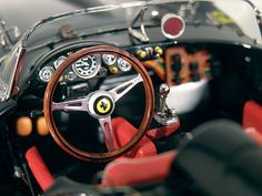 "CMC Models 1958 Ferrari 250 Testa Rossa ""Black"" Diecast Model Car"