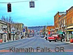 Beautiful Historic Klamath Falls, OR Downtown.  via Trendyful for iPhone