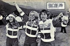 Cheryl Ladd, Penny Marshall, and Suzanne Somers on Battle of the Network Stars (1977)