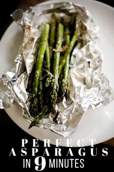 This is a bulletproof recipe for perfect asparagus – ready in only 9 minutes! #healthy #cooking #green #nutrition