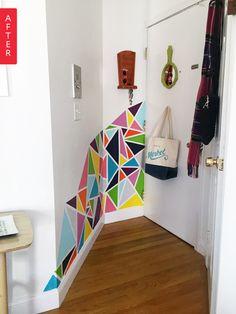 Un peu de couleur dans l'entrée pour mettre de la joie dans la maison