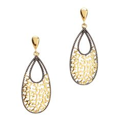 These two-tone numbers are lighthearted and full of fancy. Openwork, hollow filigree accents keep things light and classic with a modern sensibility.
