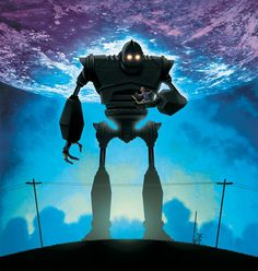 Iron Giant (1999): Brad Bird's animated film, adapted from the 1968 novel The Iron Man by poet Ted Hughes, tells the story of a lonely boy who befriends a giant iron man who fell from space