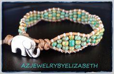 Elephant Bracelet Wrap Bracelet Elephant by AZJEWELRYBYELIZABETH