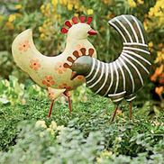 Gardeners Supply - Funky Chickens  what better way to be welcomed to your garden