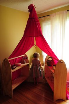 Waldorf playstand canopy Play tent for indoors and by Tentana, $79.00