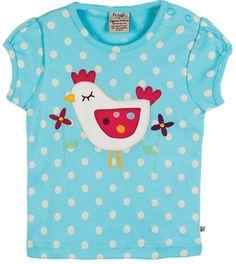 Frugi baby blue spotty chicken top