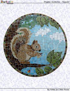 Mosaico - Esquilo by Artcolor mosaicos - Beto Romio & Fabbio Joe, via Flickr