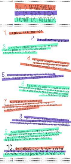 Los 10 Mandamientos de la Higiene Bucal durante el tratamiento de Ortodoncia
