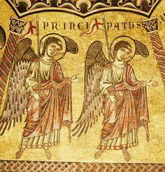 """Mosaïques du Baptistère. La hiérarchie des anges. 16. Les """"principautés"""""""