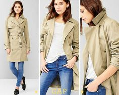 If there's one wardrobe stable you need this winter it's a fabulous trench coat. Winter Trench Coat, Lust, Military Jacket, Chic, Jackets, Fashion, Shabby Chic, Moda, Field Jacket